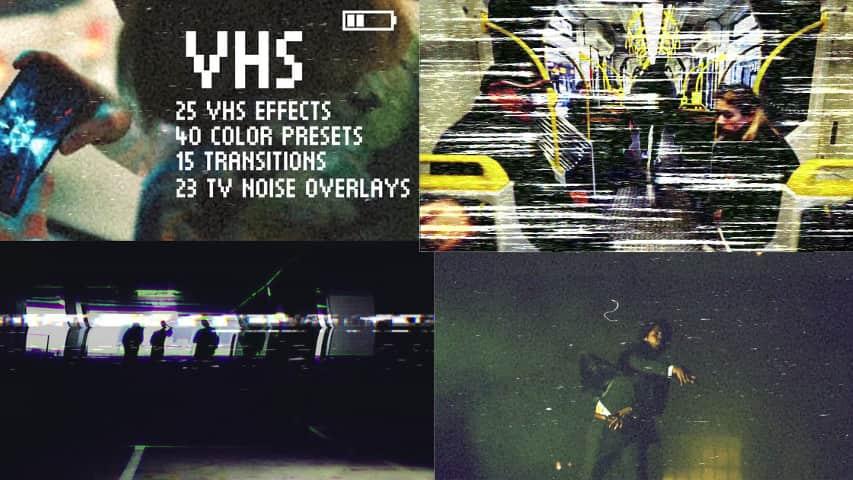 Пакет эффектов VHS для Premiere Pro