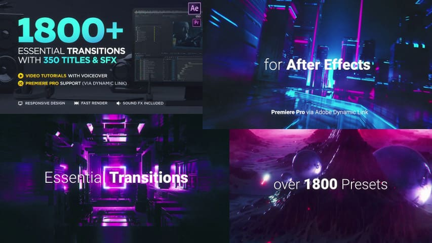 Переходы After Effects