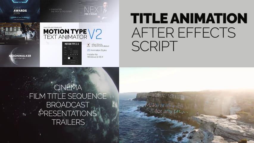 Скрипт для After Effects - Текстовый Аниматор Videohive