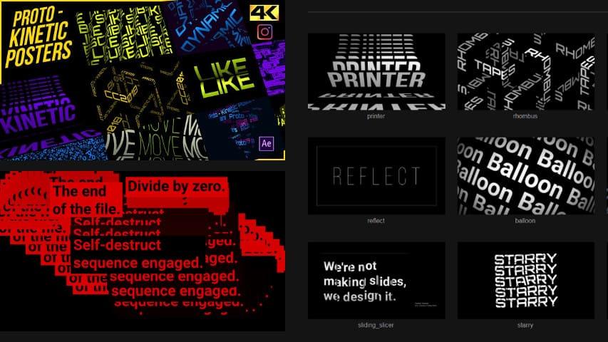 Проект Титры Videohive Proto Free