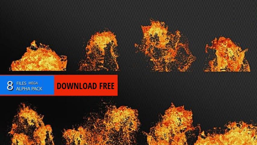 Огненная Лава — Скачать Футажи с Альфа Каналом MOV ProRes