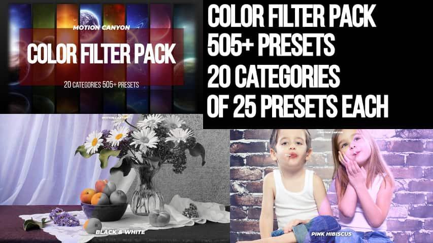 Пакет Цветовых Фильтров 505+ Premiere Pro Presets