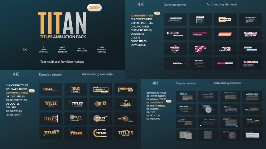 Титан 200 — Анимированные Титры для After Effects