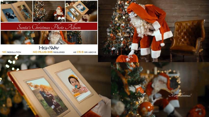 Новогодний Фотоальбом и Санта Клаус — Проект After Effects