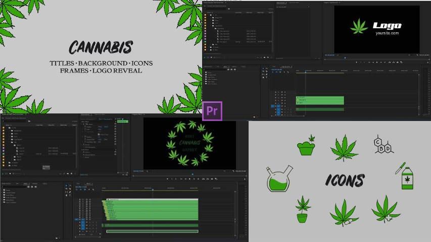 Каннабис. Пакет Ручной Анимации - Premiere Pro Templates