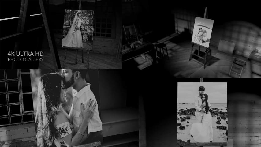 Чёрно-белый Проект Слайд шоу — Free Download After Effects Project