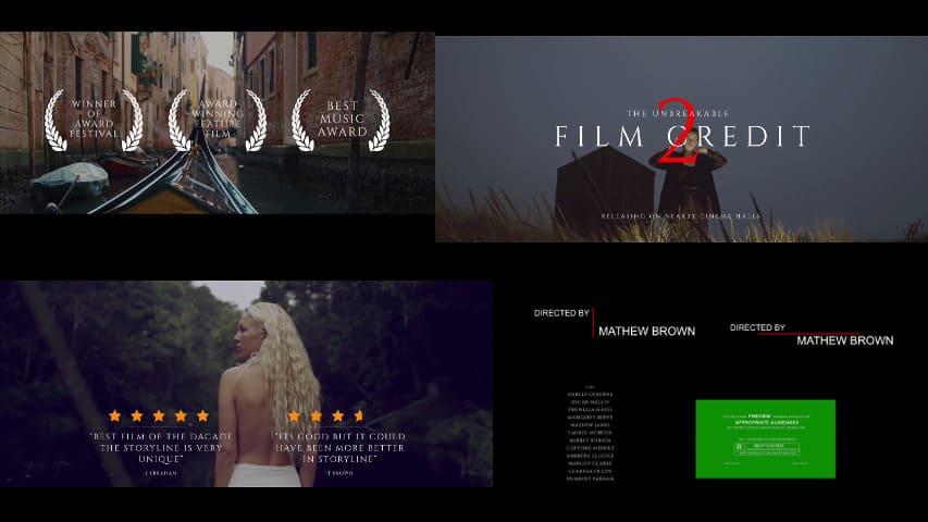 Движущиеся Титры для Фильма — Проект After Effects скачать