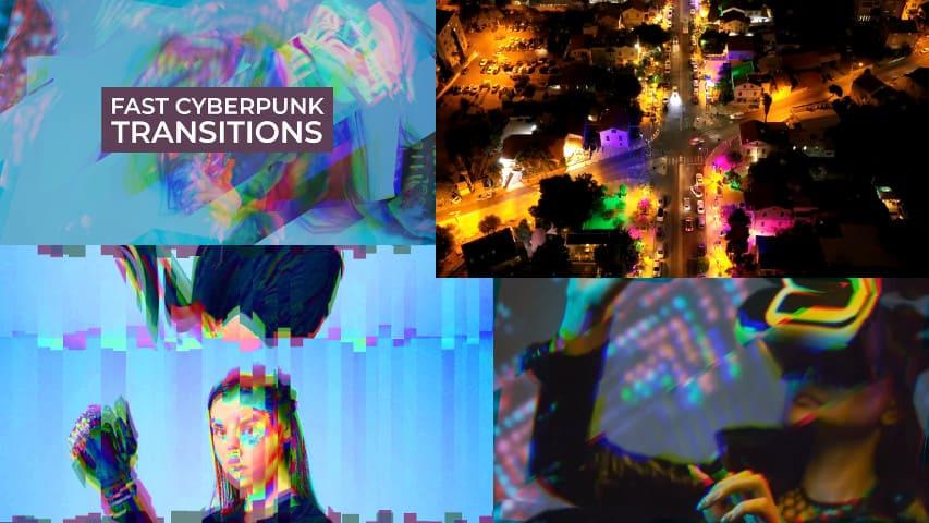 Быстрые Переходы Cyberpunk для Premiere Pro