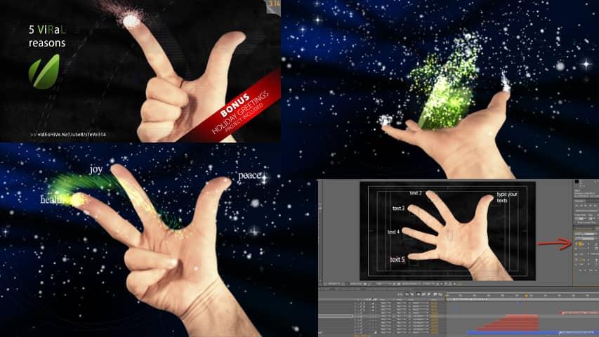Ладонь Руки и Логотип — Проект для Афтер Эффект