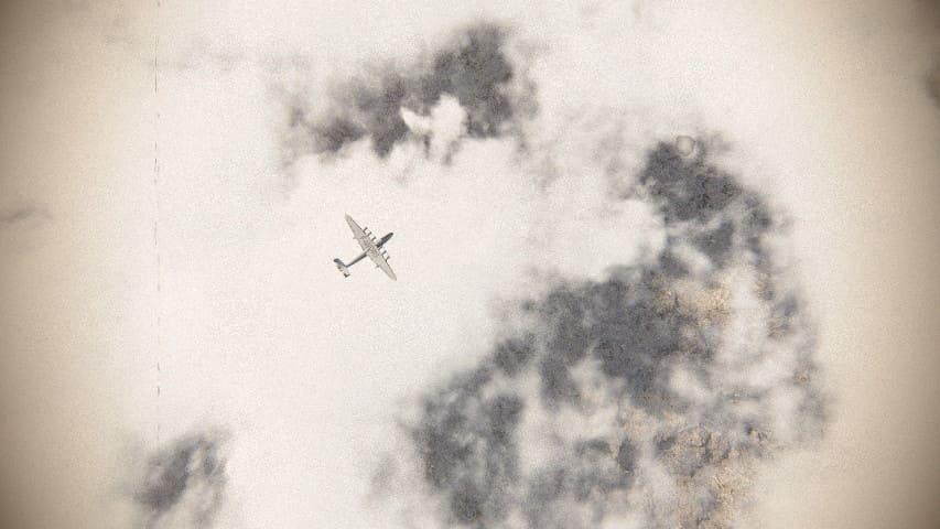 Самолёт-Бомбардировщик в Облачном Небе — Футаж Видеофон скачать