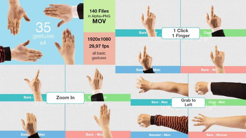 Жесты Пальцами Руки на Сенсорном Экране — Футажи Full HD 1920×1080 скачать