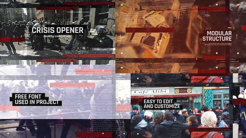 Динамичное Слайд-шоу Opener — After Effects Project