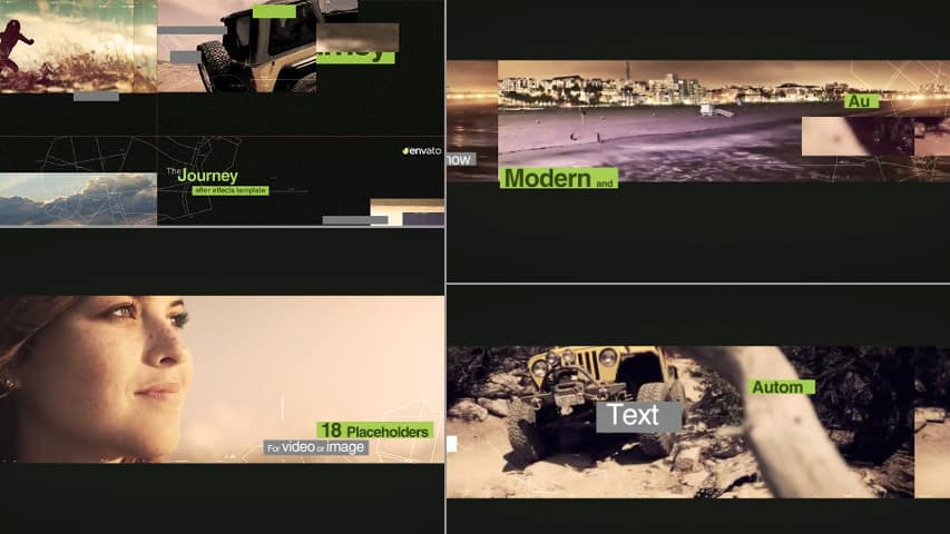 Динамичное Слайд-шоу Отдых Путешествие — After Effects Project free