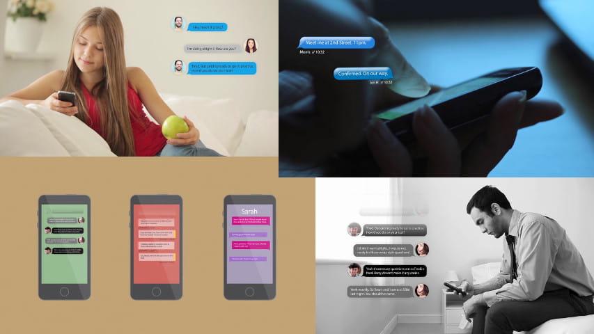Мессенджер Текстовых Сообщений — After Effects Project скачать