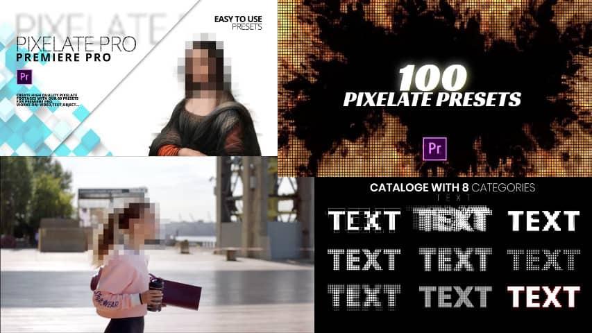 Пресеты Pixelate Pro для Адоб Премьер Про скачать