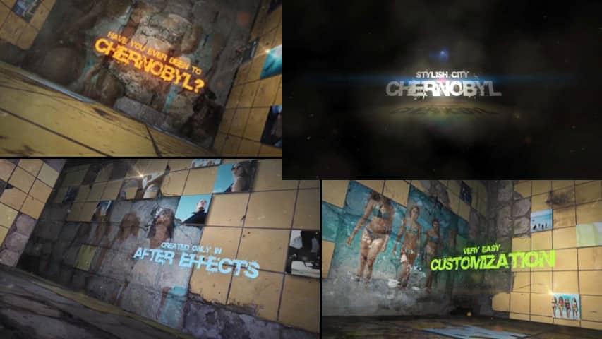 Слайд-шоу Гранж для Видео — After Effects Project скачать