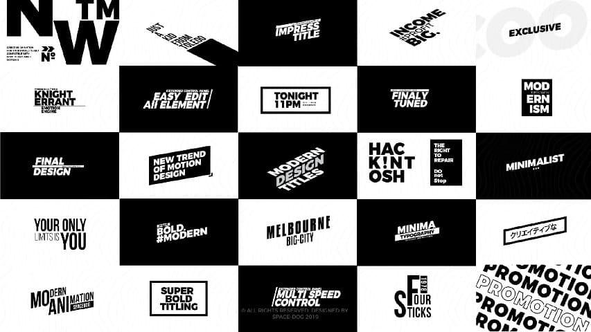 Титры Крупным Шрифтом — Premiere Pro MOGRT & After Effects Project