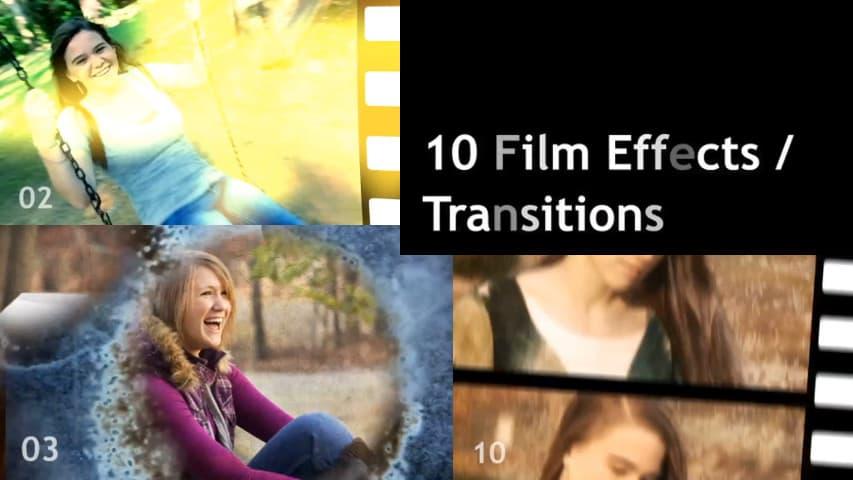 Видеошаблон Переходы After Effects Template скачать