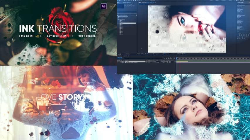Переходы Ink для Видео — Проект After Effects
