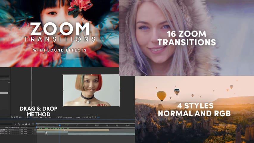 Переходы Зум для Adobe After Effects скачать